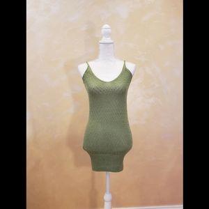 🍓 3/$20 Forever 21 Olive Green Crochet Tank Top